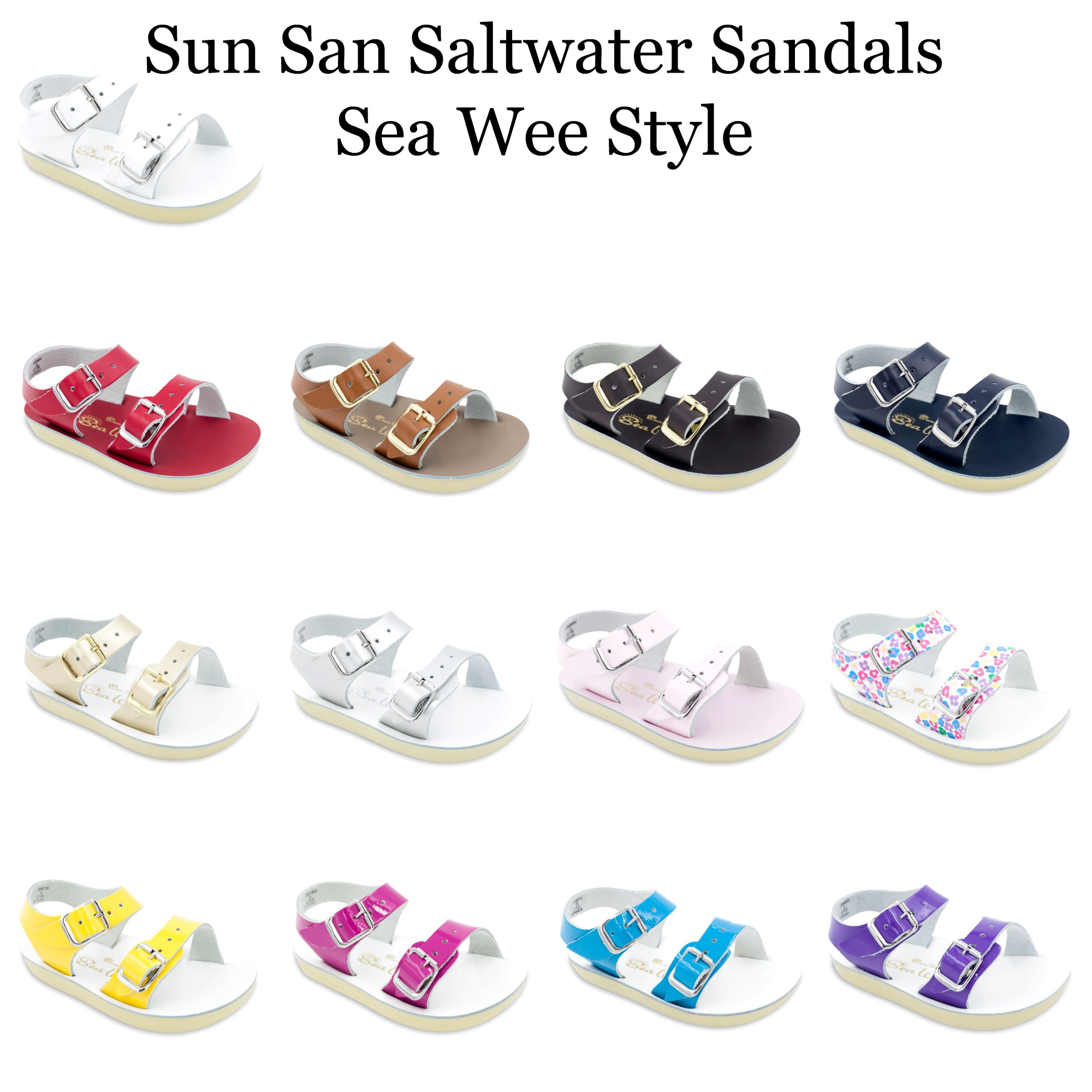 2aff696d7368 Pre-Order Sun San Salt Water Sandals-Sea Wee Style-ALL COLORS