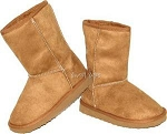Link Camel Faux Suede Toddler Boots (Size 4-8)
