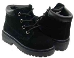 Coco Jumbo Black Leather Nubuck Boots