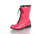 Jelly Beans Lace-Up Boot in Fuchsia Patent