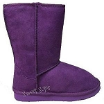 Link Purple Faux Suede Toddler Boots (Size 4-8)