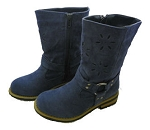 Jelly Beans Blue Fuax Suede Boots