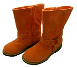 Jelly Beans Orange Fuax Suede Boots
