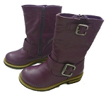 Jelly Beans Purple Buckle Boots