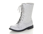 Jelly Beans Lace-Up Boot in Silver Sparkle