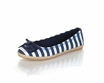 Jelly Beans Navy Stripe Espadrille Slip On Shoes