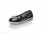 Jelly Beans Black Espadrille Slip On Shoes