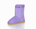 Jelly Beans Faux Suede Boot in Light Purple