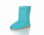 Jelly Beans Faux Suede Boot in Sea Green