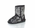 Jelly Beans Boot in Black Sequin