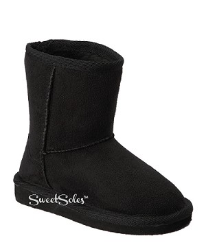 Link Black Faux Suede Toddler Boots (Size 4-8)