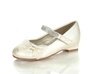 Jelly Beans Ivory Patent Dress Shoe