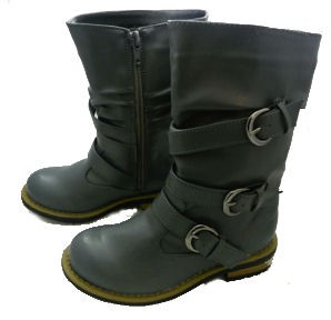 Jelly Beans Gray Buckle Boots