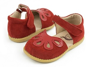 Livie & Luca Petal in Red Suede