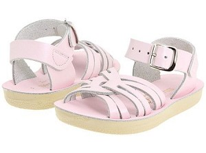 Sun San Salt Water Strappy Style Sandals in Matte Pink (DISCONTINUED COLOR)