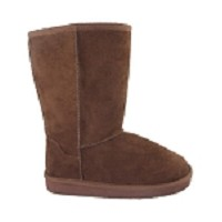 Link Brown Faux Suede Toddler Boots (Size 4-8)